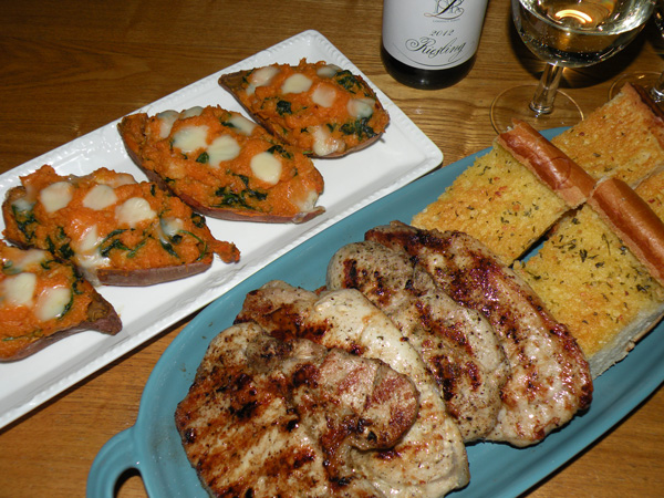 Twice Baked Sweet Potato With Shrimp And Spinach Suby S Kitchen